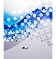 Blue modern cold cool business wave vector