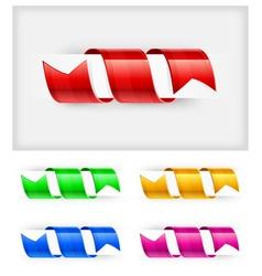 bookmark ribbon vector image vector image