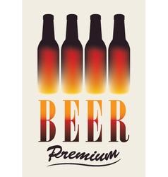 Bottles of beer vector