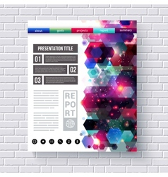 Business web template with abstract designs vector