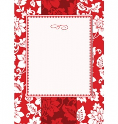 Christmas pattern and frame vector image