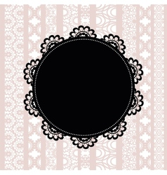 Elegant doily on lace background vector image