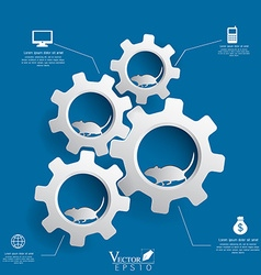 Gears background infographics design EPS 10 vector image