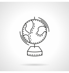Geography flat line design icon vector image vector image
