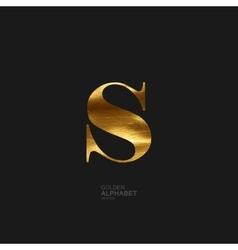 Golden letter S vector image vector image