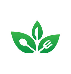 Leaf restaurant eco vector