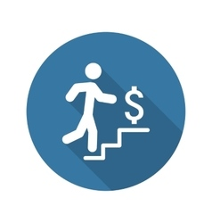 Make More Money Icon Business Concept Flat vector image vector image