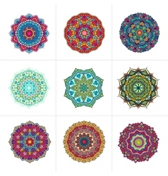 mandala ornaments set vector image