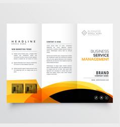 modern tri-fold brochure flyer design template vector image vector image