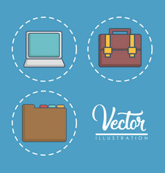 Office elements related icons vector