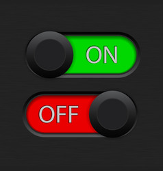 on and off toggle switch vector image