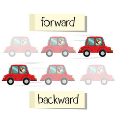 Opposite wordcard for forward and backward vector