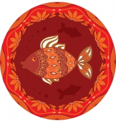ornamental fish vector image