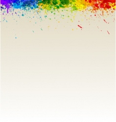 paint splashes artwork vector image vector image