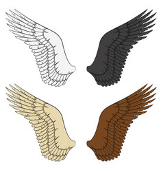 set of color of wings vector image vector image
