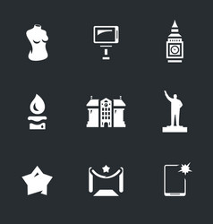 Set of wax figure show icons vector