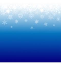 Snowflakes border vector image