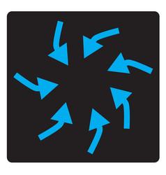 Swirl arrows interface toolbar button vector