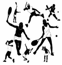 tennis people vector image vector image