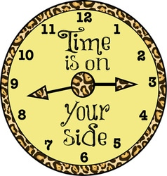 Time is on your side vector