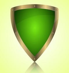 Triumph green shield symbol icon vector