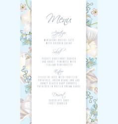 tulip blue menu vector image vector image