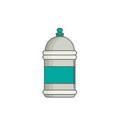 Water bottle flat design vector