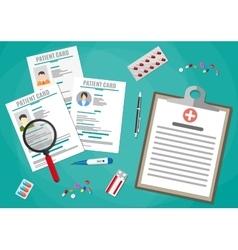 Healthcare hospital and medical diagnostics vector