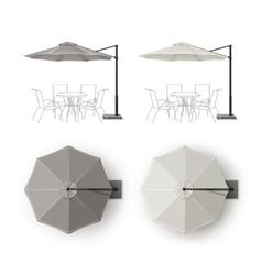 Set of Patio Outdoor Restaurant Round Umbrella vector image