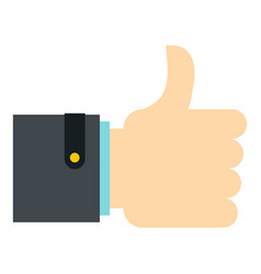 Thumb up gesture icon isolated vector
