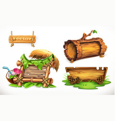 Holidays in the summertime a wooden sign can be vector