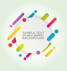 Abstract colorful background for advertising vect vector
