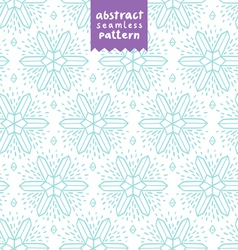 Abstract snowflake shapes pattern vector image