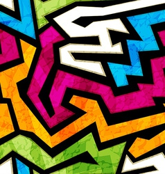 Colored graffiti seamless texture with grunge vector