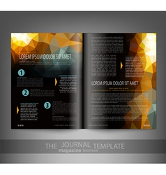 Template print edition of the journal vector