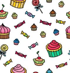 Pattern with sweets vector