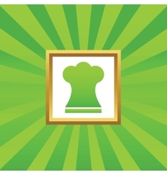 Chef hat picture icon vector
