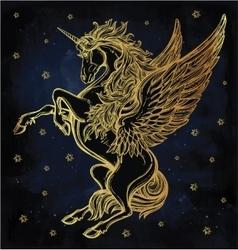 Vintage style Unicorn vector image