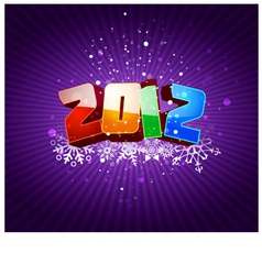 happy new 2012 year greeting card vector image