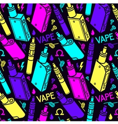 Color endless background of vape vector