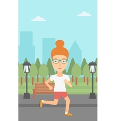 Sportive woman jogging vector