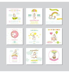 Baby Shower Card Arrival Baby Card Baby Unicorn vector image