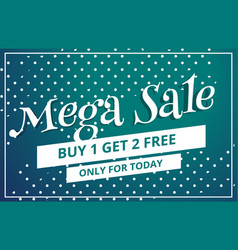 Abstract mega sale discount voucher template vector
