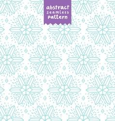 Abstract snowflake shapes pattern vector image