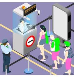 Airport duty people queue vector