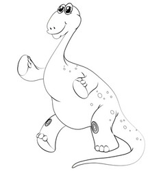 Animal outline for brachiosaurus vector