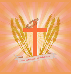 bread for every day vector image vector image