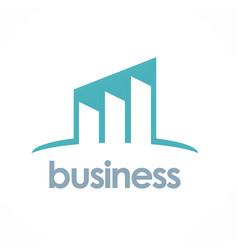 business progress logo vector image