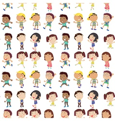 Different emotion of kids vector image