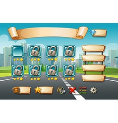 Game template vector